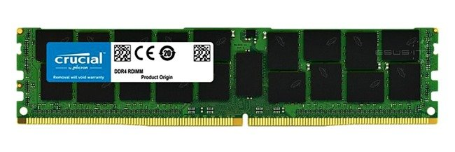 Memory RAM 1x 16GB ESUS IT ECC REGISTERED DDR4  2133MHz PC4-17000 RDIMM | CT16G4RFD4213.36F