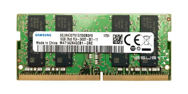 Memory RAM 1x 16GB Samsung SO-DIMM DDR4 2400MHz PC4-19200 | M471A2K43CB1-CRC