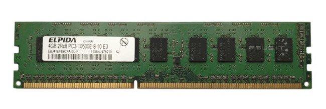 Memory RAM 1x 4GB ELPIDA ECC UNBUFFERED DDR3  1333MHz PC3-10600 UDIMM | EBJ41EF8BCFA-DJ-F