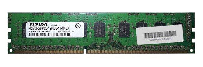 Memory RAM 1x 4GB ELPIDA ECC UNBUFFERED DDR3  1600MHz PC3-12800 UDIMM   EBJ41EF8BDWA-GN-F