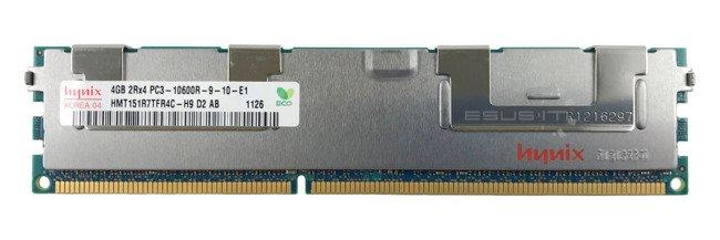 Memory RAM 1x 4GB Hynix ECC REGISTERED DDR3  1333MHz PC3-10600 RDIMM | HMT151R7TFR4C-H9