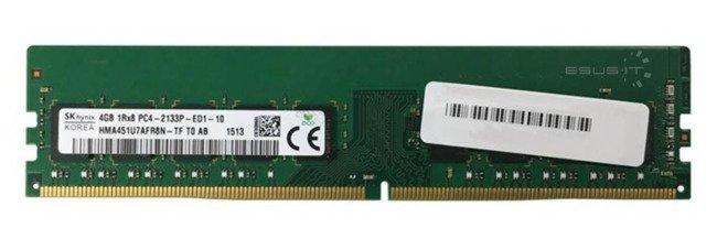 Memory RAM 1x 4GB Hynix ECC UNBUFFERED DDR4  2133MHz PC4-17000 UDIMM   HMA451U7AFR8N-TF
