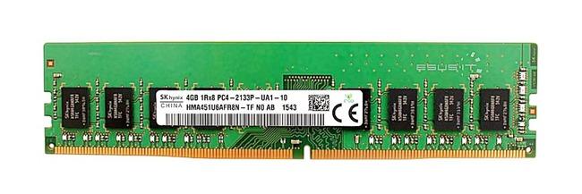 Memory RAM 1x 4GB Hynix NON-ECC UNBUFFERED DDR4 2133MHz PC4-17000 UDIMM | HMA451U6AFR8N-TF